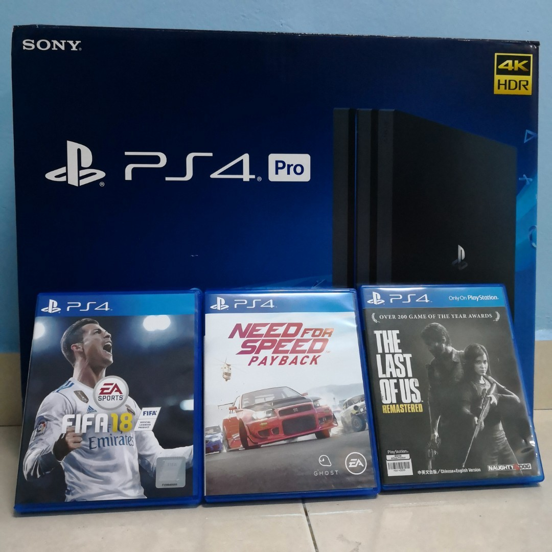 Sony Ps4 Pro 8 Games Ps Plus Accept Trade In Video Gaming Slim 500gb Cuh 2006a Jet Black Extra Controller Ds4 New Model Game Consoles On Carousell