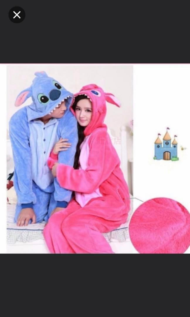 8b627de834a8 Stitch couple onesie   pajamas
