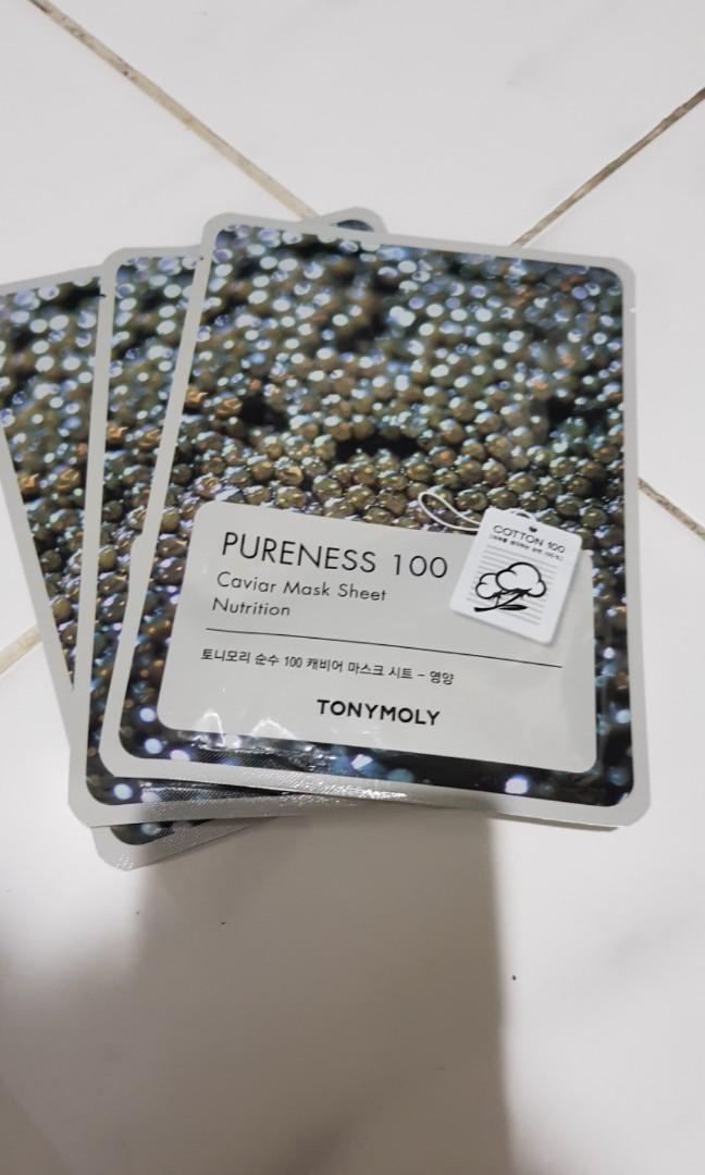 Tonymoly Sheet Mask 10pcs Pureness 100 (TAKE ALL)