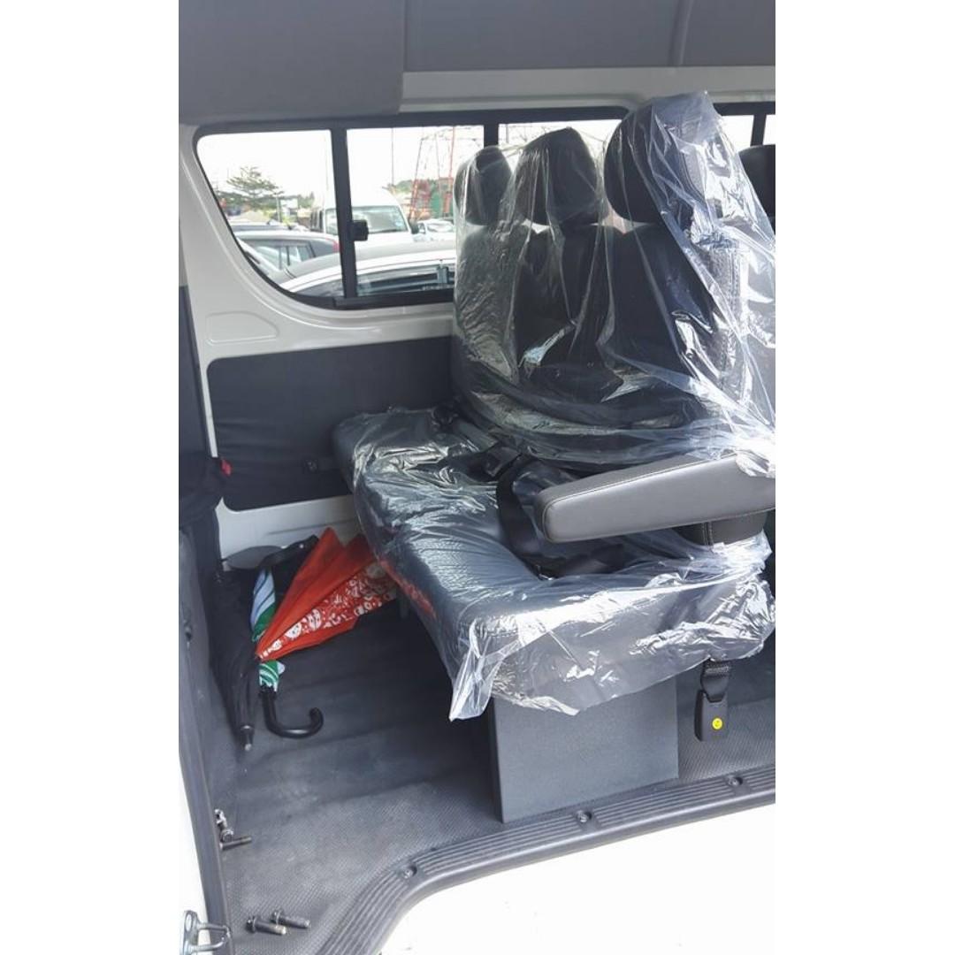 Toyota hiace nissan urvan new van seat 1 set 3 row x9 siap pasang in post malaysia RM3800