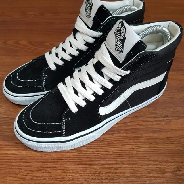 87a4fbf0032 Vans Sk8-Hi black white