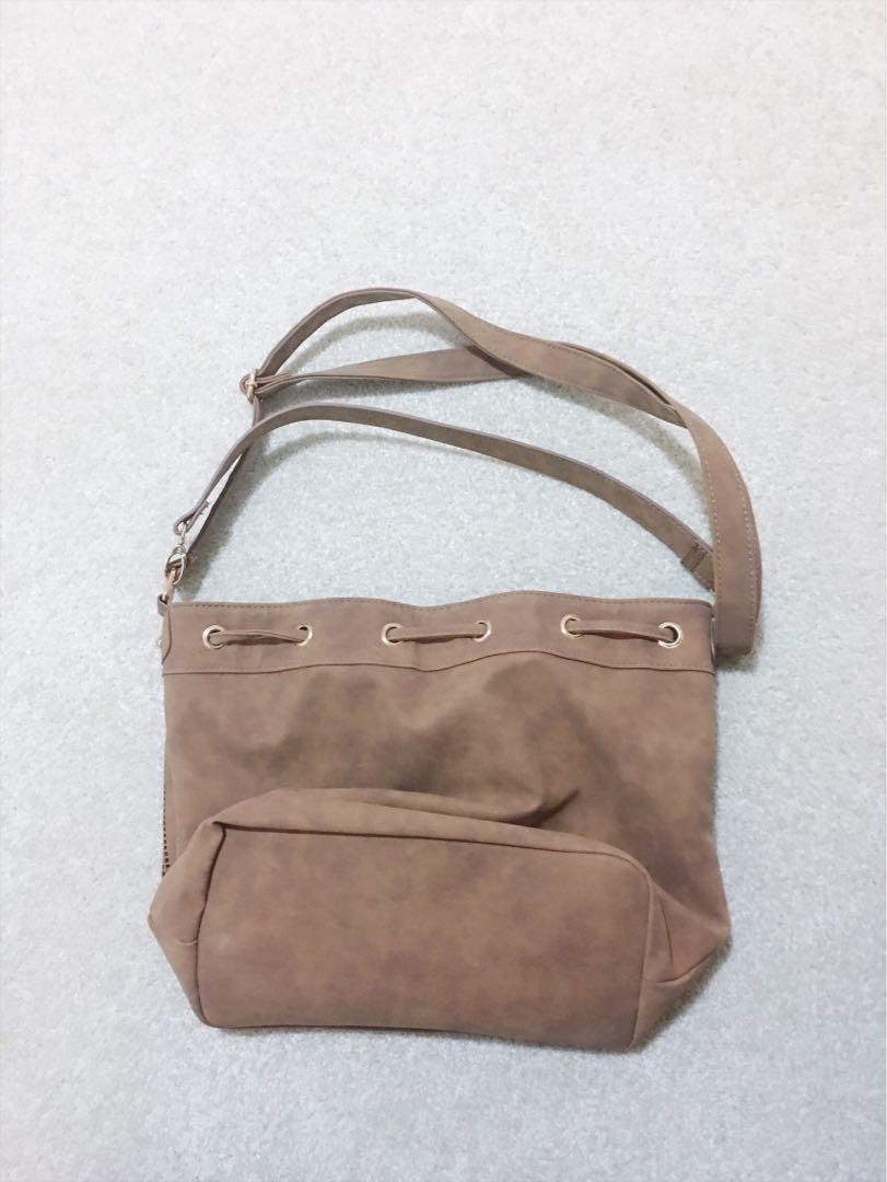 Wardrobe Clearance! - Ladies Tan Suede Shoulder Bag BNWOT