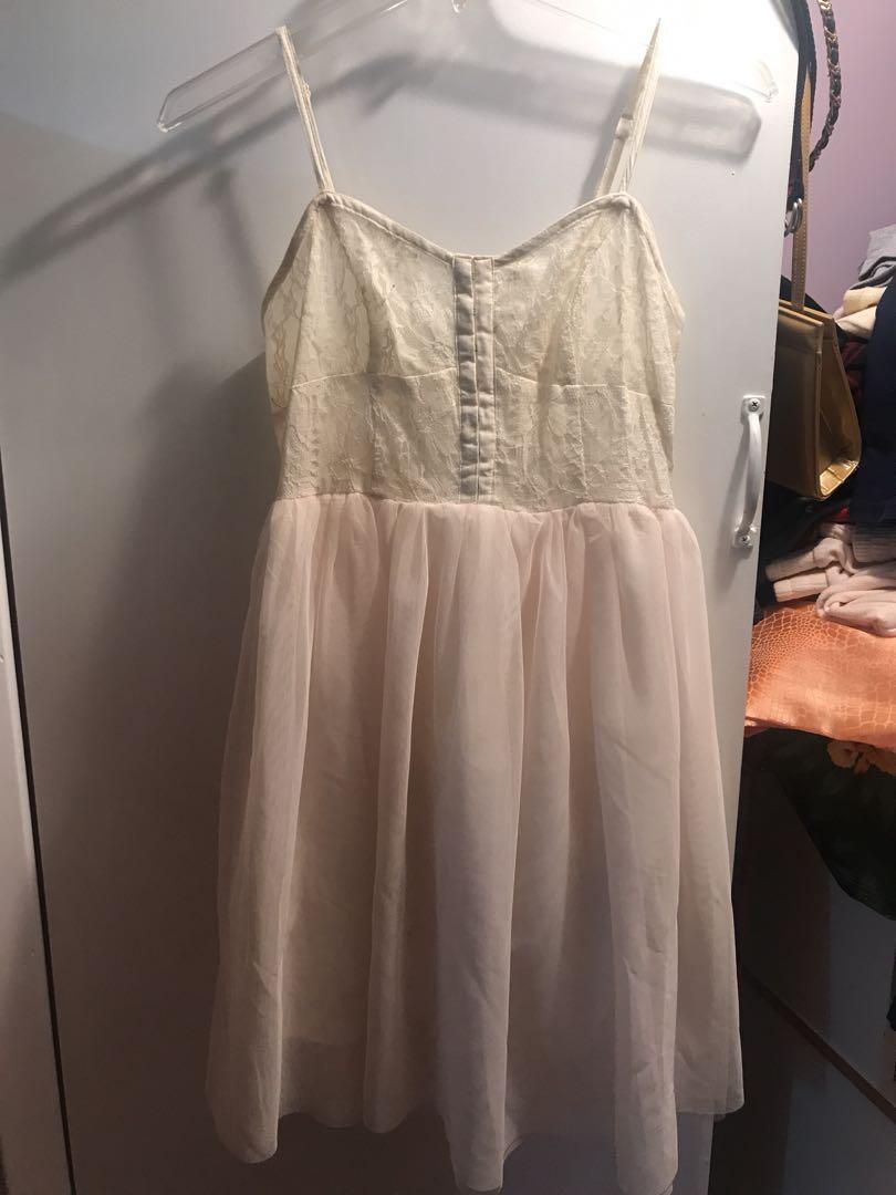 White tule dress