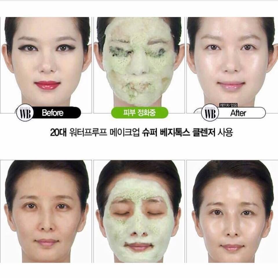 Wonder Bath Super Vegitoks Cleanser 300ml O2 Bubble Cleansing Makeup Remover (Cleanser Only)