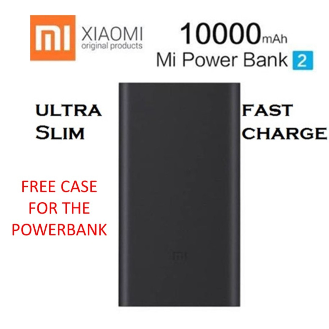 Xiaomi Mi Power Bank 10 000 Mah Silver Free Silicone Case Powerbank 10000 Biru Photo