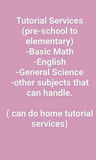 Tutorial Services