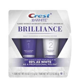 [IN-STOCK] Crest 3D White Brilliance Toothpaste and Whitening Gel System - 4.0oz and 2.3oz