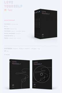 BTS TEAR ALBUM UNSEALED WITHOUT PHOTOCARD