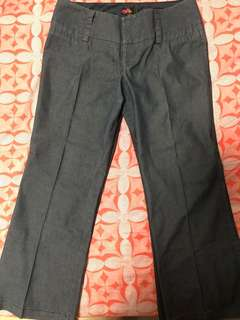 Forever21 Dark Blue Pin Stripped Pants