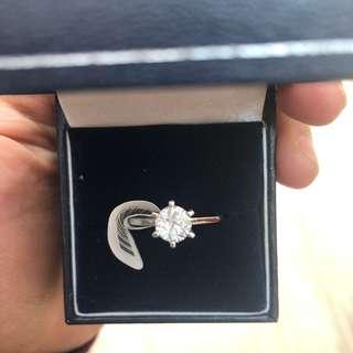 AUTHENTIC DIAMOND SOLITAIRE RING