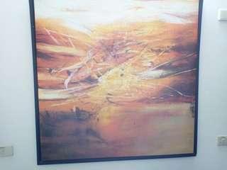 油畫100*100公分原版非印製