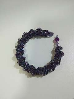 深紫水晶手鍊Dark purple crystal bracelet
