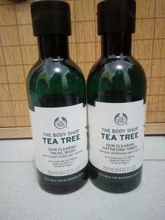 Preloved The Body Shop Tea Tree Toner & Facial Wash