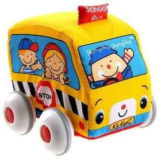 Pull back school bus vehicle for babies