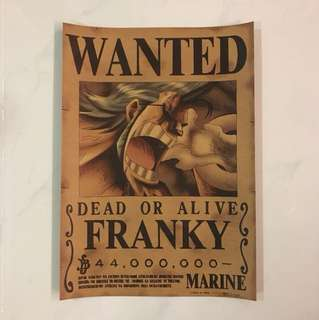 Sale 👯 Wanted Dead or Alive Franky poster 30x42cm
