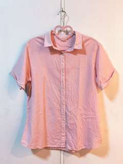 Uniqlo Pink Gingham Polo