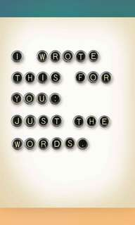 I Wrote This For You: Just The Words (ebook)