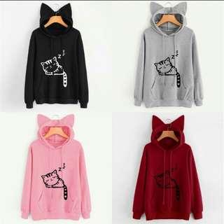 Cat's Ear Hoodie Sweatshirt