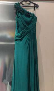 Tadashi green chiffon party dress (size 8)