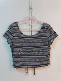 H&M Aztec Cropped Top