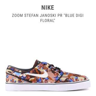 Nike Zoom Stefan Janoski Blue Digi Floral