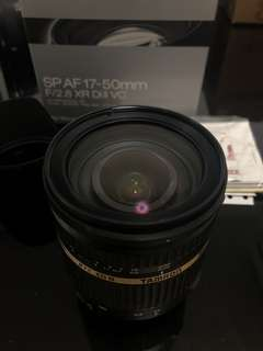 Tamron 17-50 f2.8 with VC for Nikon (vibration control)