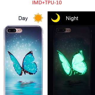 Iphone 7+ Luminous Night Light Soft Silicone Back Cover Case