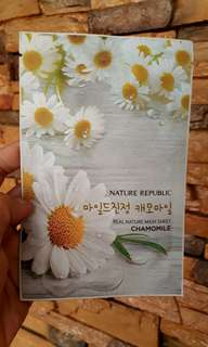 NATURE REPUBLIC FACE MASK CHAMOMILE 1 PIECE