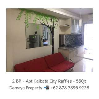 2 Bedrooms Unit at Kalibata City Apartment Green Palace Tower Raffles