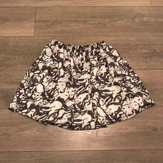 American Apparel Cat Print Skirt
