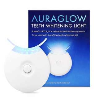 [IN-STOCK] AuraGlow Teeth Whitening Accelerator Light, 5x More Powerful Blue LED Light - Whiten Teeth Faster