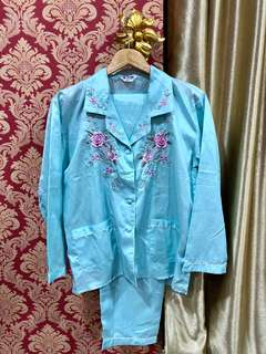 Silk Pyjamas - Light Blue
