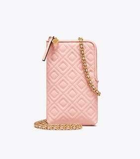 【Sale】Tory burch phone crossbody pink
