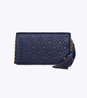 【Sale】Tory burch navy fleming crossbody navy