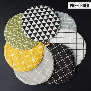 [PO] Japanese Style Geometric Round Pot Coaster