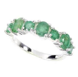 Elegant Green Emerald Ring US6