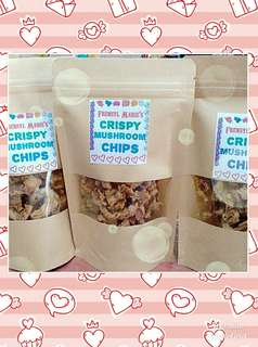 how to make crispy mushroom chips