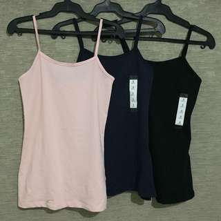 Forever 21 Camisole available in 3 colors baby pink, navy blue, black