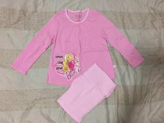 Barbie girl's pyjamas (practically brand new)
