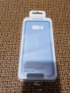 Samsung S8+ 藍色原裝CLEAR COVER