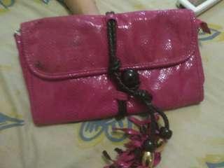 Cloutch kulit ular fashion pinky
