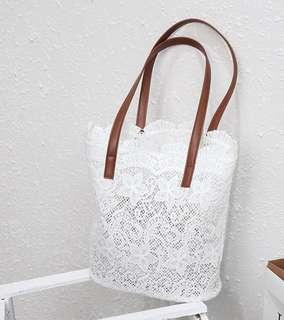 Brand new unused lace tote bag