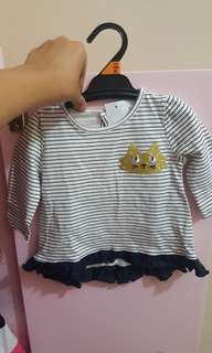 Long sleeves blouse baby girl