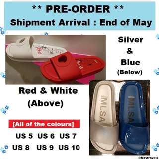 [PREORDER by 25 May] Melissa Beach Slide Sandals US 5 to 10 ; Eur 36 to 41/42