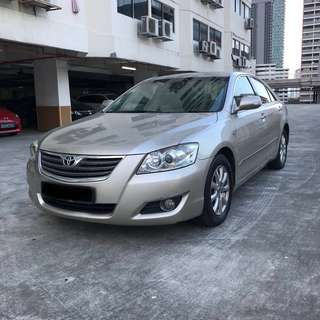 Toyota Camry 2.0A Biege For Rent (Grab Friendly)