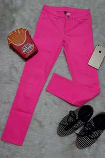 Divided Neon Pink Pants