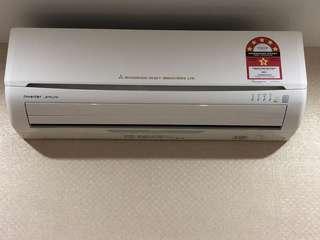 Mitsubishi Aircond 1.5hp Inverter