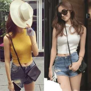 PO: Knitted Sleeveless Crop Top
