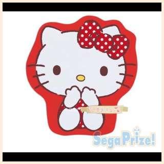 💯%日本正貨Hello kitty红绒薄款立体全身异形款休闲毯毛绒毯
