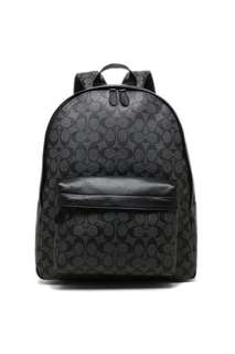 Coach Signature Charles Leather Backpack